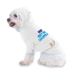 Wwsd? What Would Samantha Do? Hooded (Hoody) T-Shirt With Pocket For Your Dog Or Cat Xs White