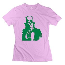 Uncle Sam Smile T-Shirts For Girl/Pink T-Shirt