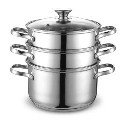 Cook N Home Nc-00313 Double Boiler And Steamer Set, Stainless Steel