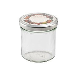 Leifheit 3178 8-Ounce Straight Canning Jars, Large, Clear, Set Of 6