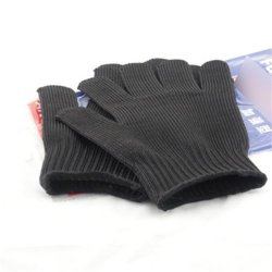 Black Durable Cut-Resistant Anti Abrasion Safety Hands Protective Work Gloves