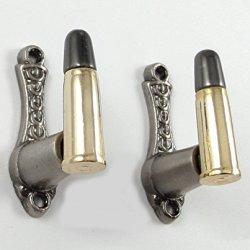 Bullet Design Sword Pistol Knife Gun Wall Hanger Hook Display Bracket Mount Rack