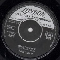 "Mack The Knife 7 Inch (7"" Vinyl 45) Uk London 1958"