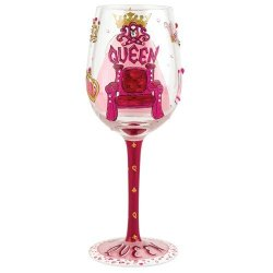 Santa Barbara Design Studio Gls11-5526R Lolita Love My Wine Hand Painted Glass, Queen