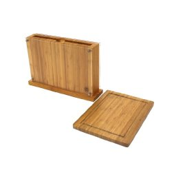 Schmidt Brothers Cutlery, Supbc01, Uptown Block With Built-In Cutting Board
