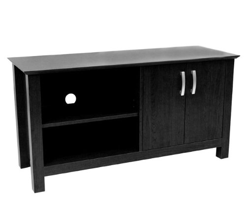 Image of Walker Edison 44 Inch Cordoba Black TV Stand - W44COSBL (AZ00-50539x31809)
