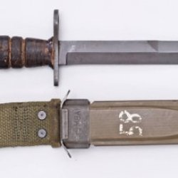 Us Gi Wwii Leather Handle M4 Bayonet With M8A1 Scabbard. Northridge International Inc.