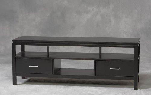 Image of Linon Sutton TV Stand Console - Black Finish (B0076QK1HI)