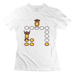 Ludo Board Game Pop Women T-Shirts X-Large White