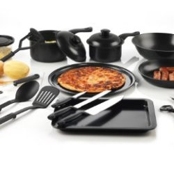 Your Kitchen Hero Css-2/2355 25-Piece Cookware Utensils Starter Set, Medium, Black