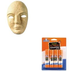 Kitckc4190Epie542 - Value Kit - Creativity Street Paper Mache Mask Kit (Ckc4190) And Elmer'S Washable All Purpose School Glue Sticks (Epie542)