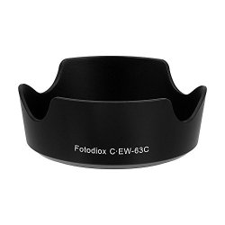 Fotodiox Hd-Ew-63C Dedicated Lens Hood For Canon Ef-S 18-55Mm F/3.5-5.6 Is Stm Lens (Black)