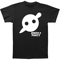 Knife Party Men'S Stabbed Circle Slim Fit T-Shirt Small Black