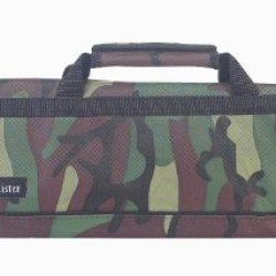 Messermeister 8-Pocket Padded Knife Roll, Camouflage