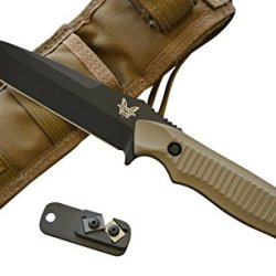 Benchmade 141Bksn Nimravus Fixed Blade Knife W/ Free Benchmade Sharpener
