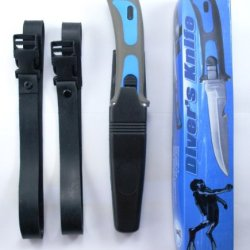 Scuba Diver Knives Diving Gear Knife Navy Seal Sheath Blue
