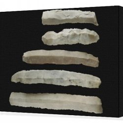 Canvas Print Of Silex Knives (3Rd-2Nd Mil. Bc). Decorative Arts