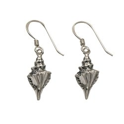 Sterling Silver Conch Shell Wire Earrings