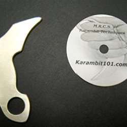 Aluminum Kerambit Tiger Claw Silat Trainer Knives & Karambit Training Dvd Video Serak