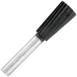Vermont American 16676 1/2-Inch By 7/8-Inch Useable Length Inverted Cone Shaped Rotary File Cd 1/4-Inch Shank Metal Rotary File For Drill
