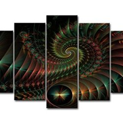 5 Piece Wall Art Painting Fractal Spirals Prints On Canvas The Picture Abstract Pictures Oil For Home Modern Decoration Print Decor For Bedroom