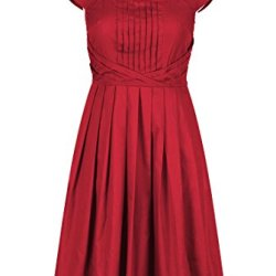 Eshakti Women'S Olivia Dress 1X-16W Tall Crimson