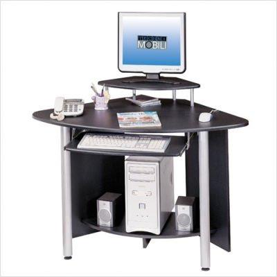 Comfortable Techni Mobili Compact Corner Computer Desk in Graphite RTA