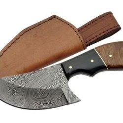 Szco Supplies Damascus Cat Skinner Knife