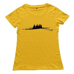 Goldfish Women'S Awesome Unique Rowboat T-Shirt Yellow Us Size Xl