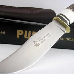 Puma Germany Solingen Pathfinder Hunter Round Stag Handle Knife Leather Sheath