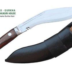 "Genuine Gurkha Full Tang Blade Kukri Knife - 10"" Blade Panawal Angkhola Village Farmer Kukri - Handmade By Ex Gurkha Khukuri House In Nepal"