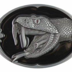 Hogar Mens Zinic Alloy Western Belt Buckle Snake Buckles Color Black