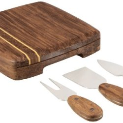 Picnic Time Cordova Bamboo Cheese Board With Tools