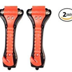 Car Emergency Escape Window Break Hammer Safety Seatbelt Cutter Tool, 2 Pack
