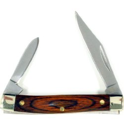 Ruko 2-3/4-Inch 2-Blades Pakkawood Handle Pocket Knife, Tsa Airport Ready 2013