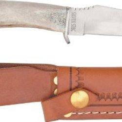 Silver Stag Deer Skinner Fixed Blade Hunting Knife D2 Tool Steel