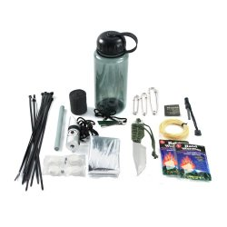 30 In 1 Ultimate Survival Bottle & Emergency Outdoor Kit Whistle Compass