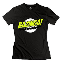 Bazinga T-Shirts For Girls/Black Tee Shirts