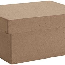 Dcc Paper Mache Small Rectangle Box, 4.75-Inch X 3.375-Inch X 2.125-Inch