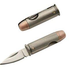 Police Security Hunting Camping Military Us Army Marines Usmc Pistol Handgun Bullet Style Pocket Folding Novelty Knife