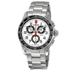 Victorinox Swiss Army Men'S 241445 Chrono Classic Silver Chronograph Dial Watch