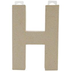 Paper Mache Letter - H - 8 X 5.5 X 1 Inches