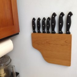 Maggie - An Original Magnetic Knife Rack (Cherry)