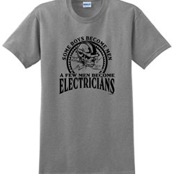 Created Equal, Some Boys Become Men Electricians T-Shirt Xl Sport Grey