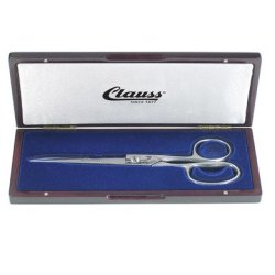 Clauss 7'' Solingen Hot Forged Sewing Shears With Wood Display Case