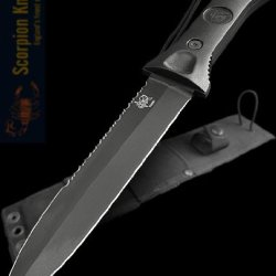 "Scorpion Knives Todd Green 7"" Blade Fighting Knife Paul Cross Sheath T-Gt-001"