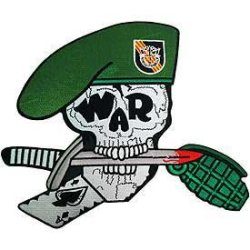 Us Military Stitch Only Xl Patch - Skull War Knife Grenade Ace Of Spades 11-1/2""