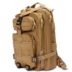 Sport Outdoor Military Rucksacks Tactical Molle Backpack Camping Hiking Trekking Bag-Tan