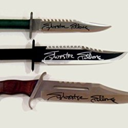 3 Offically Licensed Rambo Knives All Signed By Sylvester Stallone W/ Coa Proof Pic
