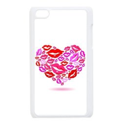 Diy Personalized New Custom Cute Cartoon Sexy Red Kiss Lips Lipstick Pattern Design Cell Phone Case Cover For Apple Ipod Touch 4 Case Hard Plastic Mobile Phone Case Protective Shell